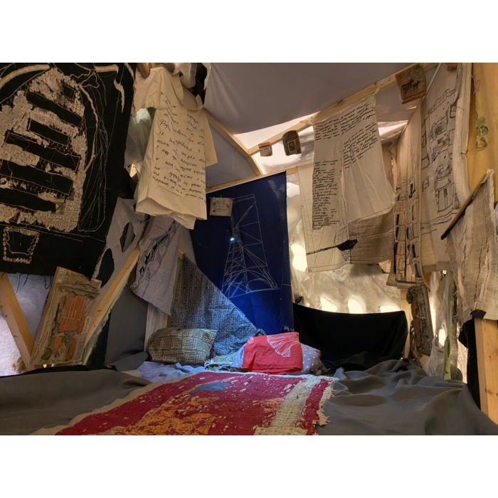 Crumpled architecture: Maria Arendt's exhibition at MMOMA